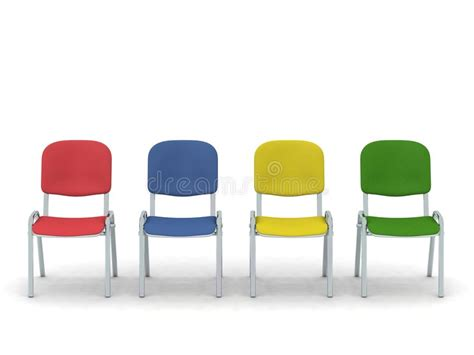Colorful Chairs Stock Illustration. Illustration Of Fabric