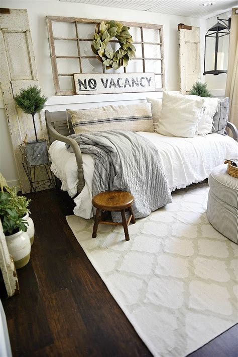 chic bedroom farmhouse guest bedroom makeover Farmhouse