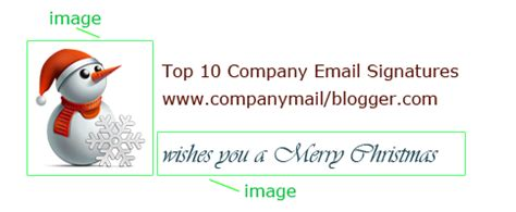 company email signatures add a christmas flavour to your email signature