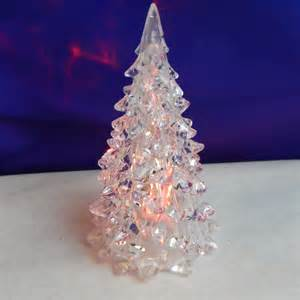 doll house christmas tree acrylic led color changing
