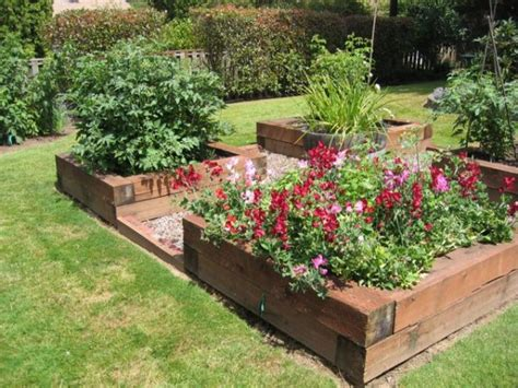 landscaping beds raised beds for easy low maintenance backyard gardens
