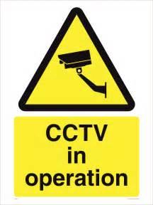 CCTV Security Camera Signs
