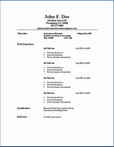 basic resume templates download resume templates With best simple resume template