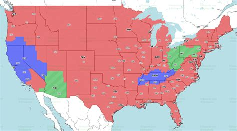 nfl week  tv coverage maps