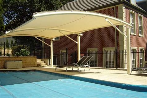 framed pool canopy cover residential shade sails weathersafe shade sails
