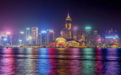 Hong Kong Nighscape 4K Wallpapers