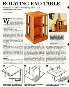 Rotating Bookshelf Plans • WoodArchivist