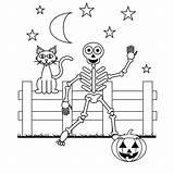 Coloring Pages Skeleton Halloween Printable Mandala sketch template