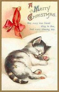 Vintage Kitty Christmas Cards