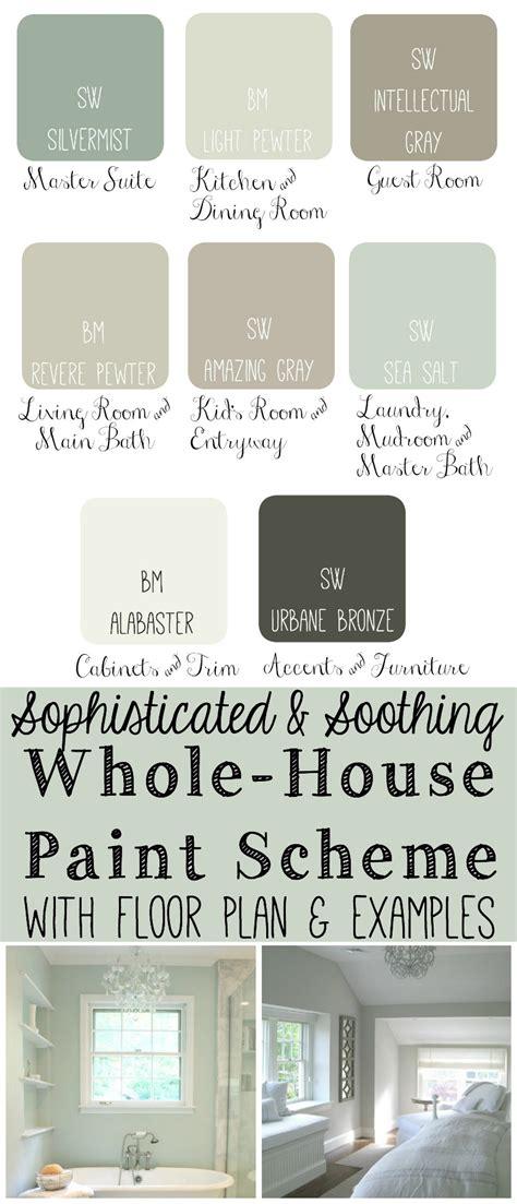today i put together a whole house paint scheme i like to