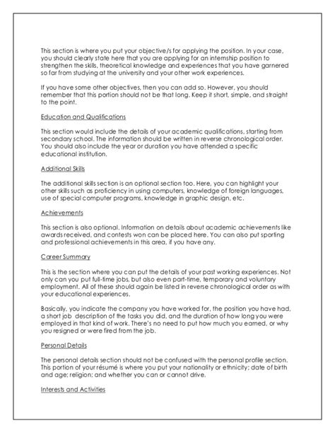 Things Not To Write In A Resume by How To Write Impressive Resume And Cover Letter