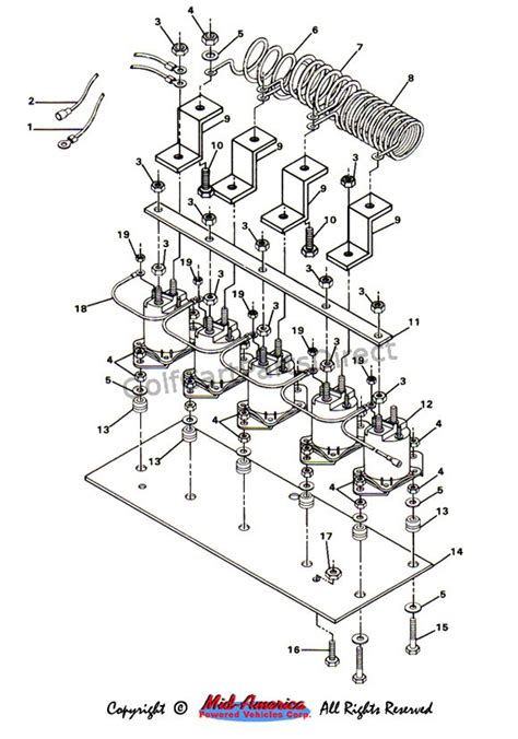Club Car Solenoid Diagram by 1986 Club Car Wiring Diagram Wiring Diagram