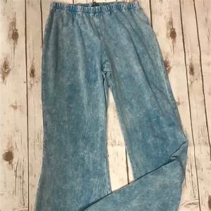 Chatoyant Pants Jumpsuits Mineral Wash Bell Bottom