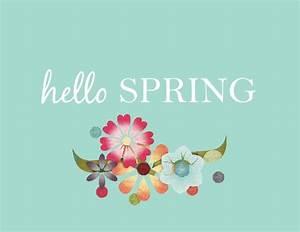 Hello Spring Printable - Laura's Crafty Life