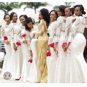 Nigerian Wedding: The White Bridesmaids Dress Trend & 4 ...