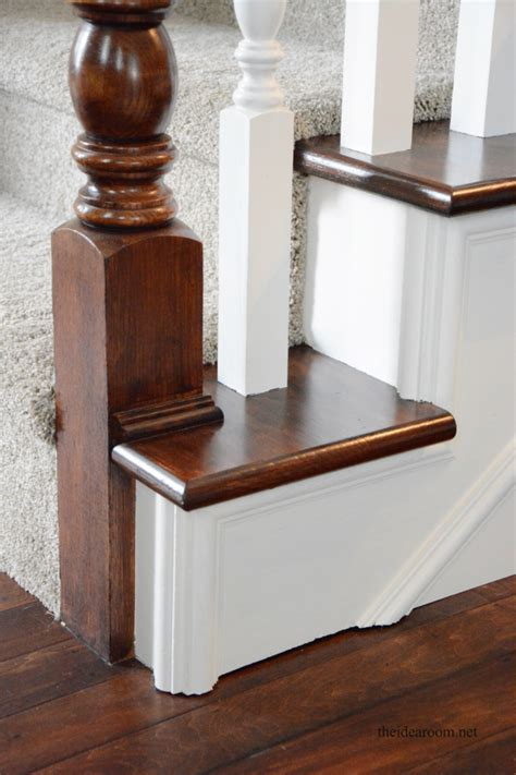 Restaining Banister by How To Stain An Oak Banister The Idea Room