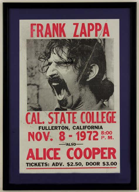 lot detail frank zappa  cal state college original