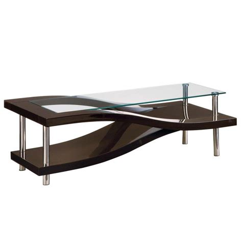contemporary glass coffee tables modern glass and wood coffee table