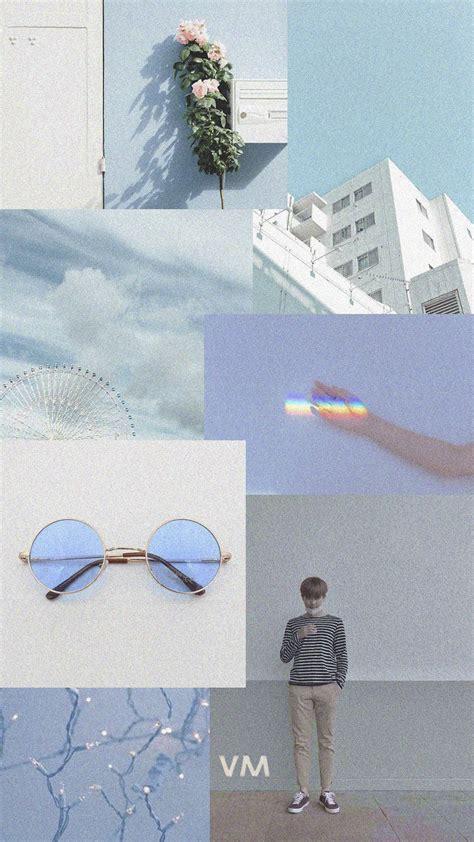 soft blue aesthetic namjoon kimnamjoon blueaesthetic