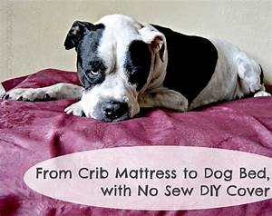 from crib mattress to dog bed with no sew diy cover With baby mattress dog bed