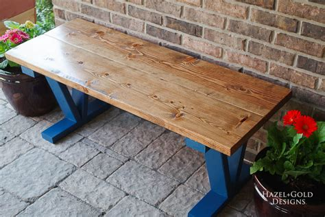 easy  inexpensive diy outdoor bench  house  wood