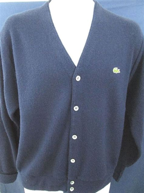 mens cardigan sweaters navy mens izod lacoste sweater m navy blue alligator vintage