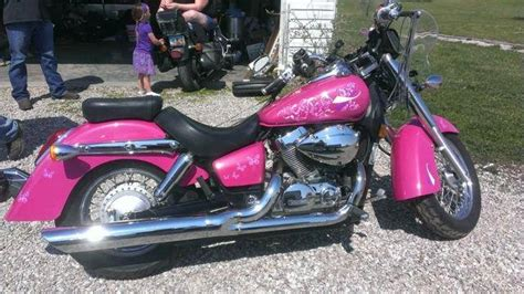 Hot Pink Harley With Silver Pearl