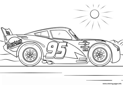 lightning mcqueen  cars  disney coloring pages printable
