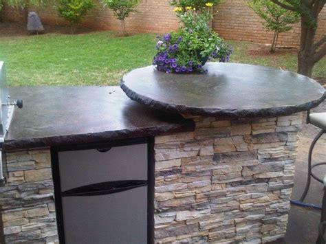 outdoor concrete countertops traditional exterior