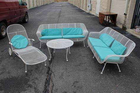 six set of sculpture patio furniture by woodard at