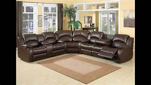 3 pc samara chocolate bonded leather sectional sofa with With 3 pc sectional sofa with recliners