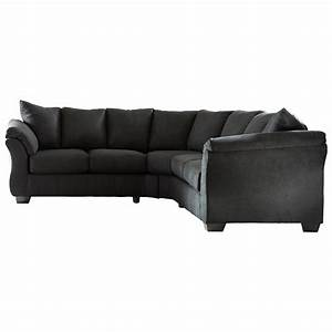 ashley signature design darcy black contemporary With sectional sofas johnny janosik