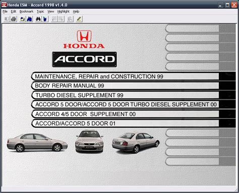 honda accord esm electronic service manual 1998 2000 download