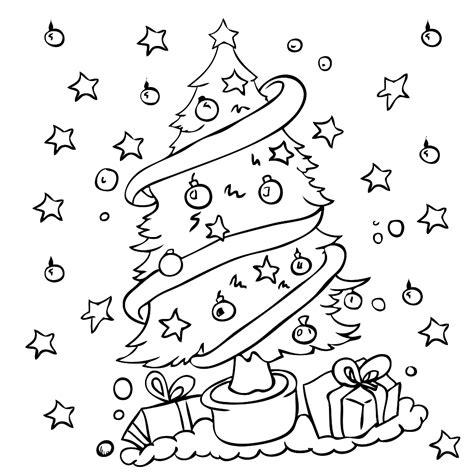 Kleurplaat Kerstboom Met Pakjes by Kleurplaten Maken Leuk Voor