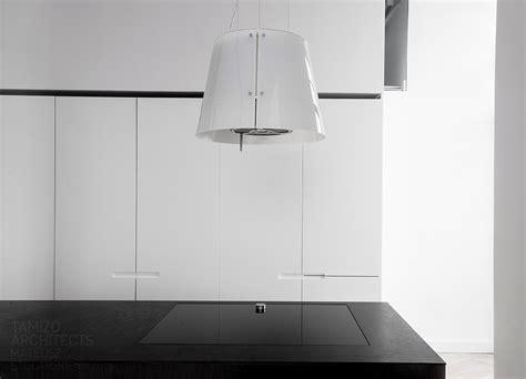 designer extractor fan kitchen interior design in black white 6626