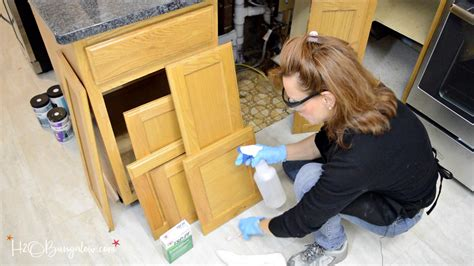 degreaser for kitchen cabinets before painting step by step guide how to paint kitchen cabinets h20bungalow