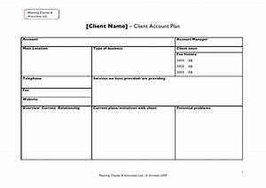 Client account plan for Client management plan template