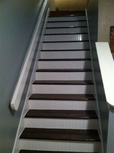 DYI stairs. Changed old carpet for finished wood stairs