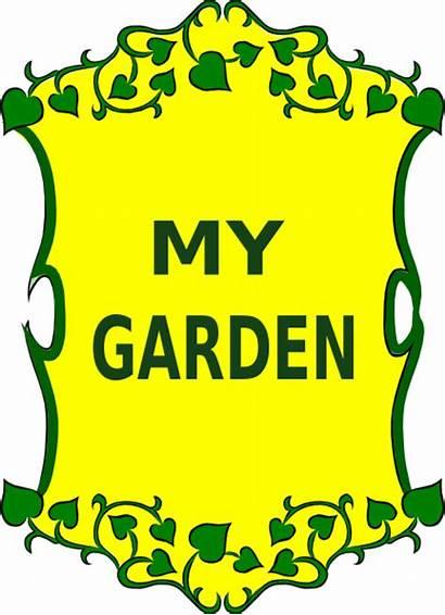 Garden Sign Clip Clipart Clker