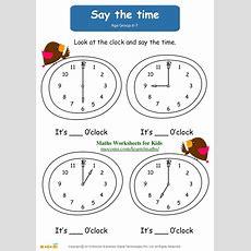 Say The Time  Maths Worksheets For Kids Mocomicom