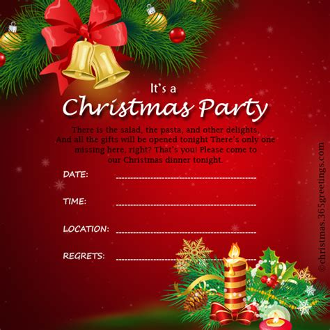 free christmas dinner invitations christmas invitation template and wording ideas