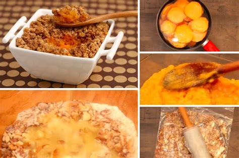 un crumble de patates douces aux noix pour un dessert original la recette