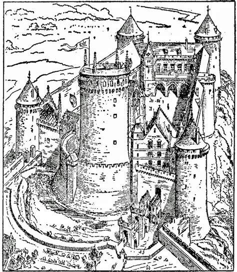 malarbild slottet coucy bild  images