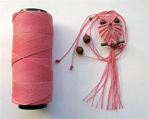 Makramee Eule Anleitung : faser kette macrame owl pink rosa makramee eule halskette ~ A.2002-acura-tl-radio.info Haus und Dekorationen