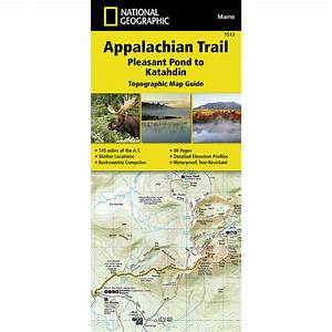 National Geographic Appalachian Trail  Pleasant Pond To