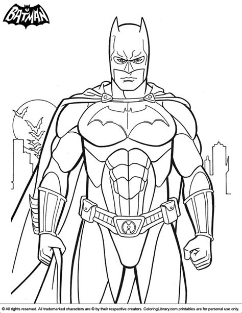 batman coloring sheet  kids coloring library