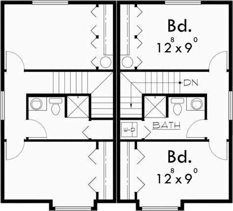 duplex floor plans for narrow lots craftsman style duplex with boxed windows compact floor plan
