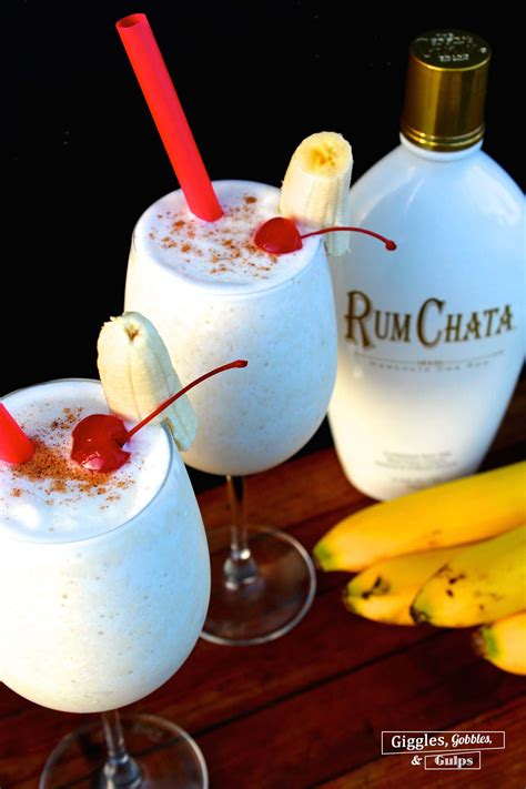 For thicker horchata, chill longer. Banana Rumchata Colada - Giggles, Gobbles and Gulps