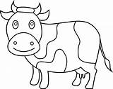 Cow Coloring Clip Printable Clipart Line Coloring4free Andw Sweetclipart sketch template