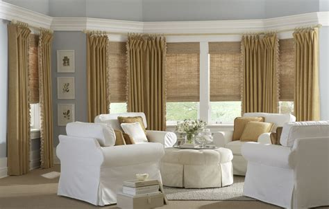 Shades And Drapes by Adding Draperies Or Side Panels To Horizons Woven